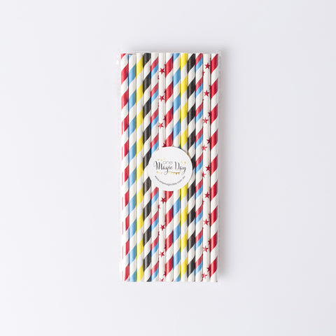 Super Hero Party Mixed Straws (pack of 25)