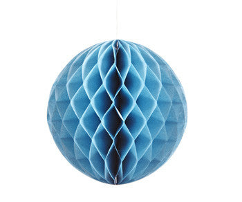 Turquoise Honeycomb Tissue Ball 12.5cm