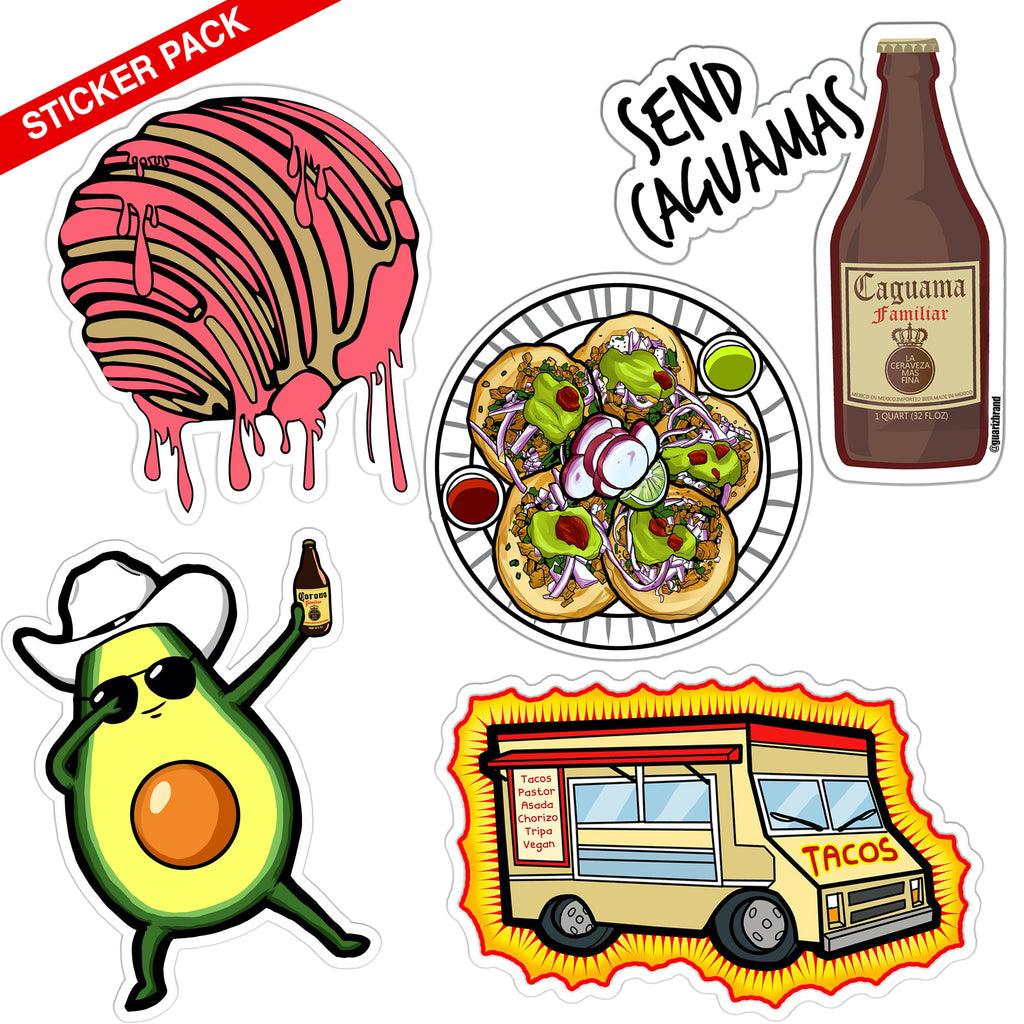 $10 FOODIE PEGA-STICKER Pack (5 PACK)