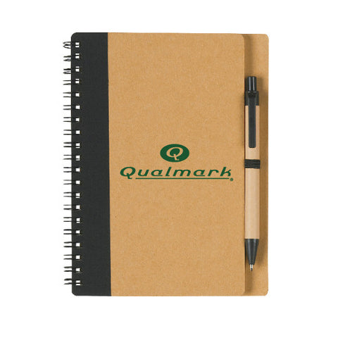 Eco-Inspired Spiral Notebook & Pen (Pack of 100)