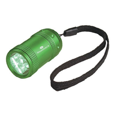 Green Aluminum Small Led Flashlight With Strap (Pack of 100)
