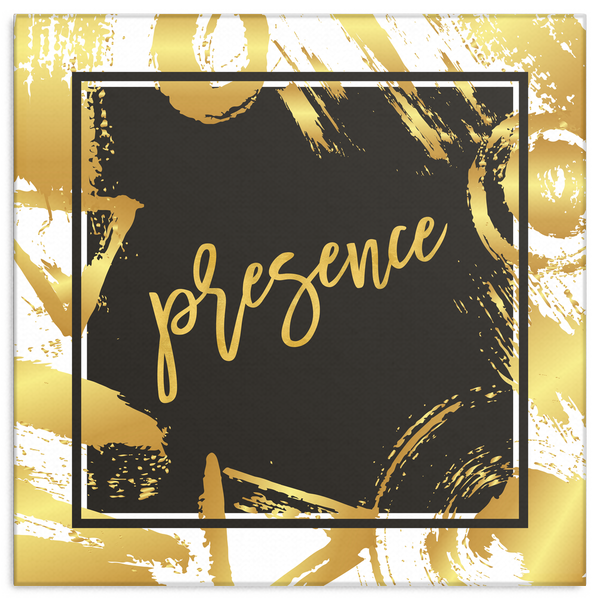 One Word: Presence Gallery Wrap Canvas Wall Art