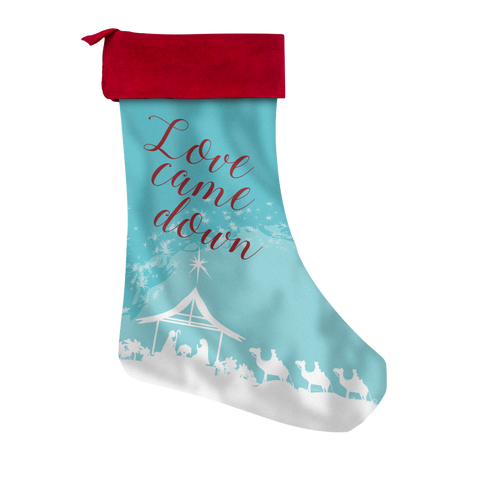 Love Came Down Custom Printed Christmas Stocking