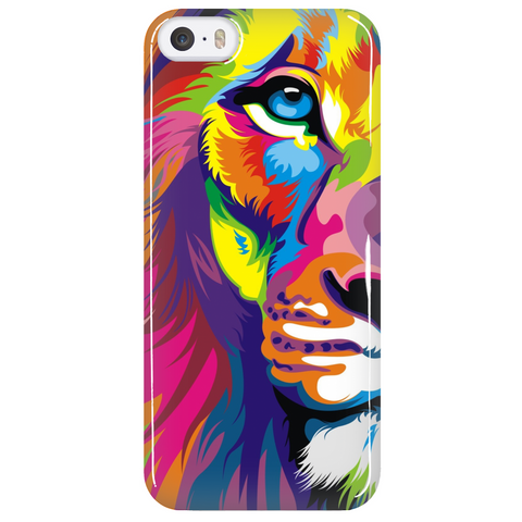 Half Lion Face Colorful Phone Case - Dressed Up Tee Shop  - 5