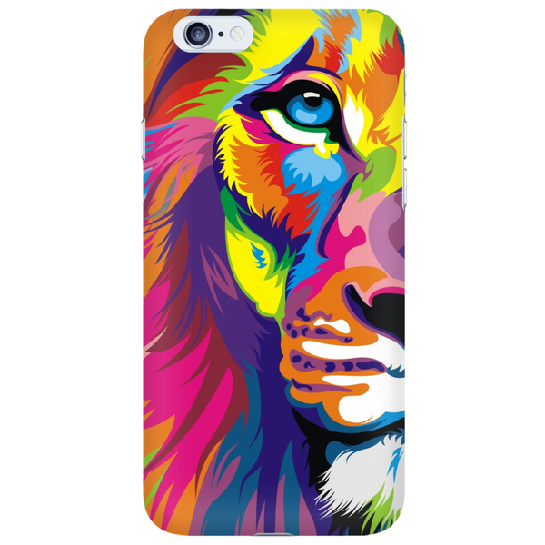 Half Lion Face Colorful Phone Case - Dressed Up Tee Shop  - 6