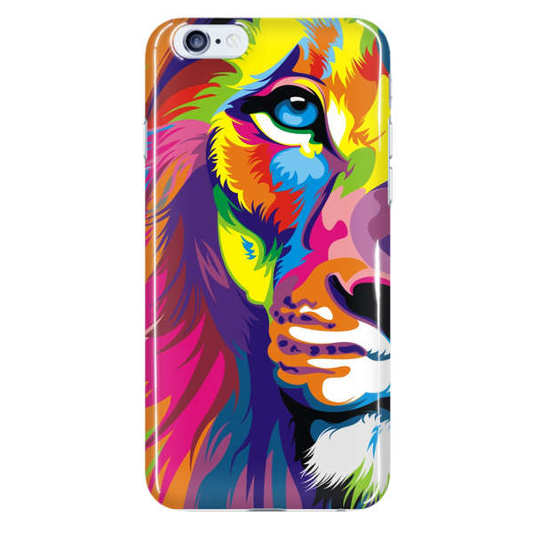 Half Lion Face Colorful Phone Case - Dressed Up Tee Shop  - 7