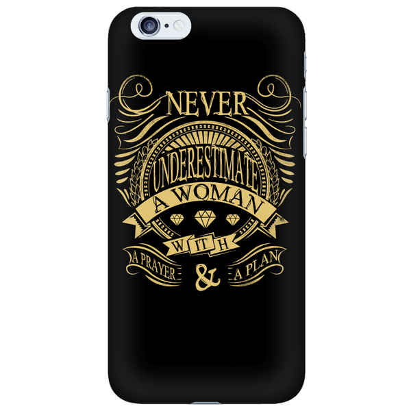Never Underestimate Phone Case - Dressed Up Tee Shop  - 6