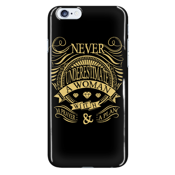 Never Underestimate Phone Case - Dressed Up Tee Shop  - 7