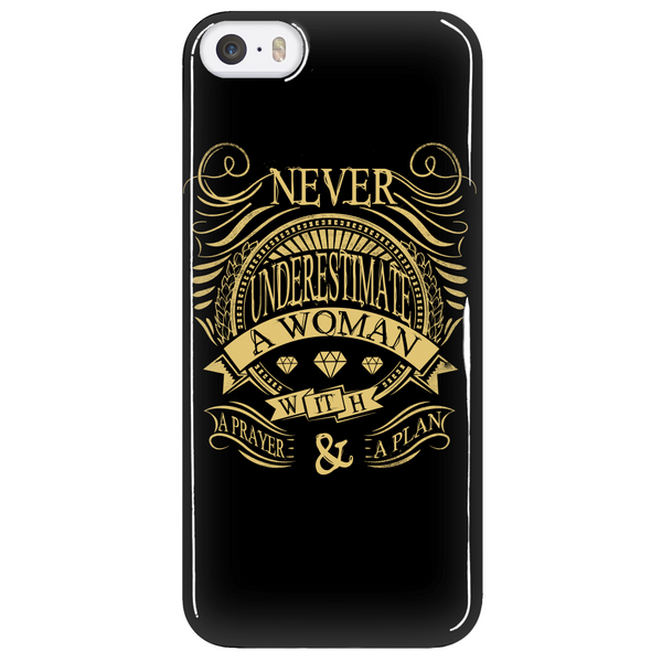 Never Underestimate Phone Case - Dressed Up Tee Shop  - 5