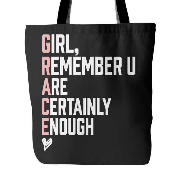 Grace Girl Canvas Tote Bag