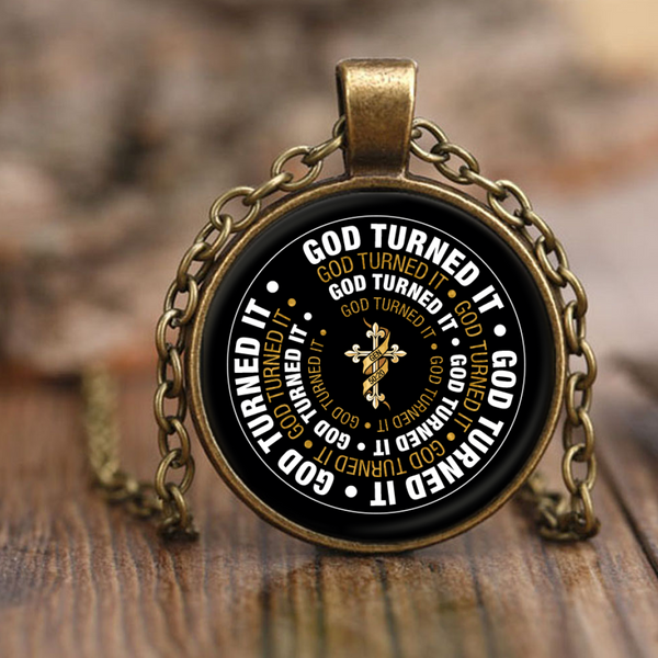 God Turned It Pendant Necklace