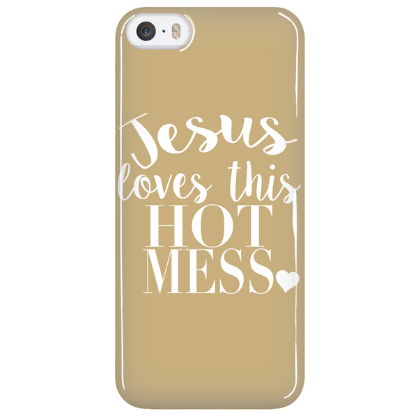 Jesus Loves This Hot Mess Phone Case - Dressed Up Tee Shop  - 5