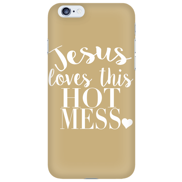 Jesus Loves This Hot Mess Phone Case - Dressed Up Tee Shop  - 6