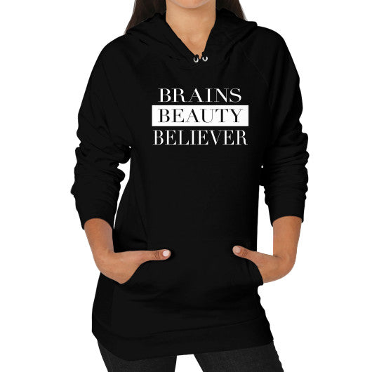 Brains Beauty Believer Hoodie - Dressed Up Tee Shop