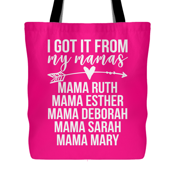 I Got It From My Mamas (of the Bible) Canvas Tote Bag