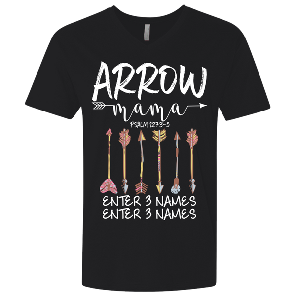Arrow Mama 6 Arrows (Customize With Names) V-neck