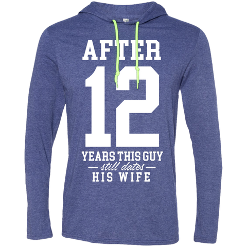 After (Customize Number) Years This Guy Still Dates His Wife Long Sleeve T-Shirt Hoodie