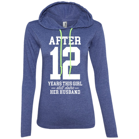 After (Customize Number) Years This Girl Still Dates Her Husband Long Sleeve T-Shirt Hoodie