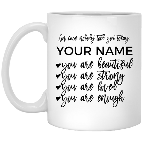 In Case Nobody Told You Today Mug (Personalize with your name)