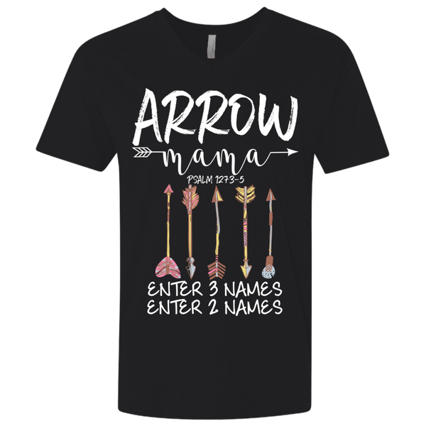Arrow Mama 5 Arrows (Customize With Names) V-neck