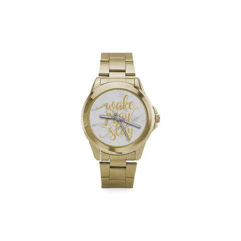 Wake Pray Slay Custom Gilt Watch