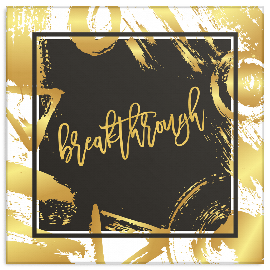 One Word: Breakthrough Gallery Wrap Canvas Wall Art