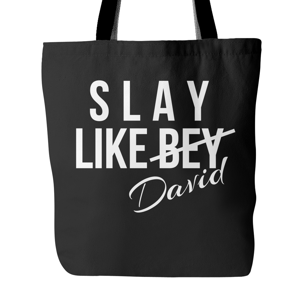 Slay Like David Canvas Tote Bag