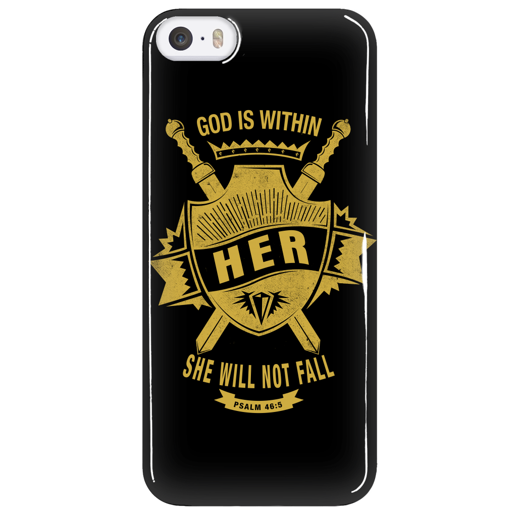 God is Within Her Phone Case - Dressed Up Tee Shop  - 5