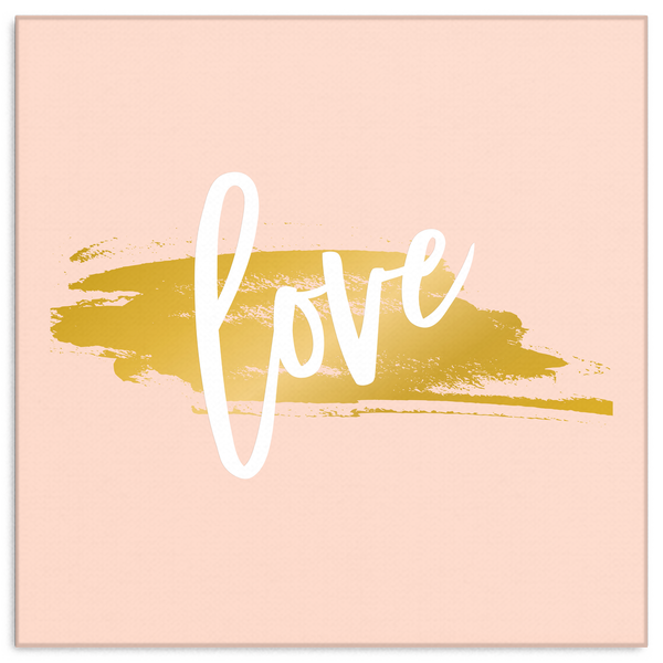 One Word: Love Gallery Wrap Canvas Wall Art