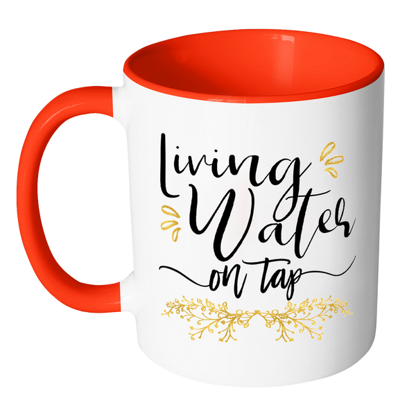 Living Water On Tap Accent Mugs