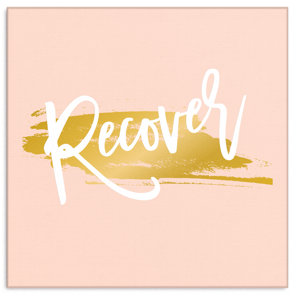 One Word: Recover Gallery Wrap Canvas Wall Art – Dressed Up Tee Shop