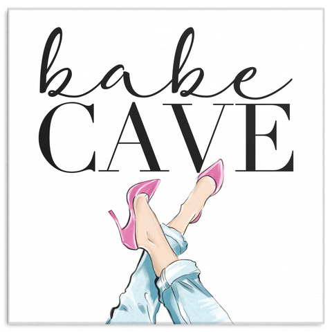 Babe Cave Wall Art (Wood Frame Ready to Hang)