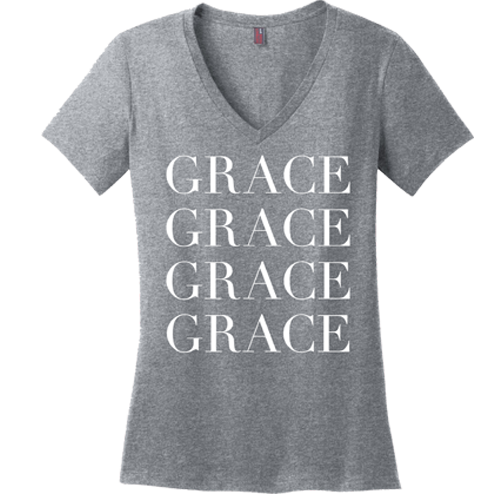 Grace Upon Grace V-neck Tee - Dressed Up Tee Shop  - 3