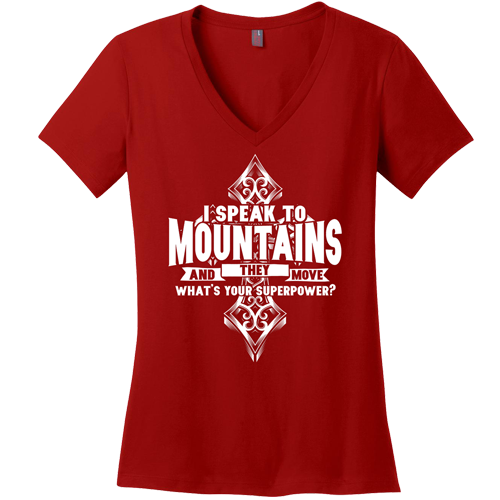 I Speak to Mountains Superpower Tee - Dressed Up Tee Shop  - 4