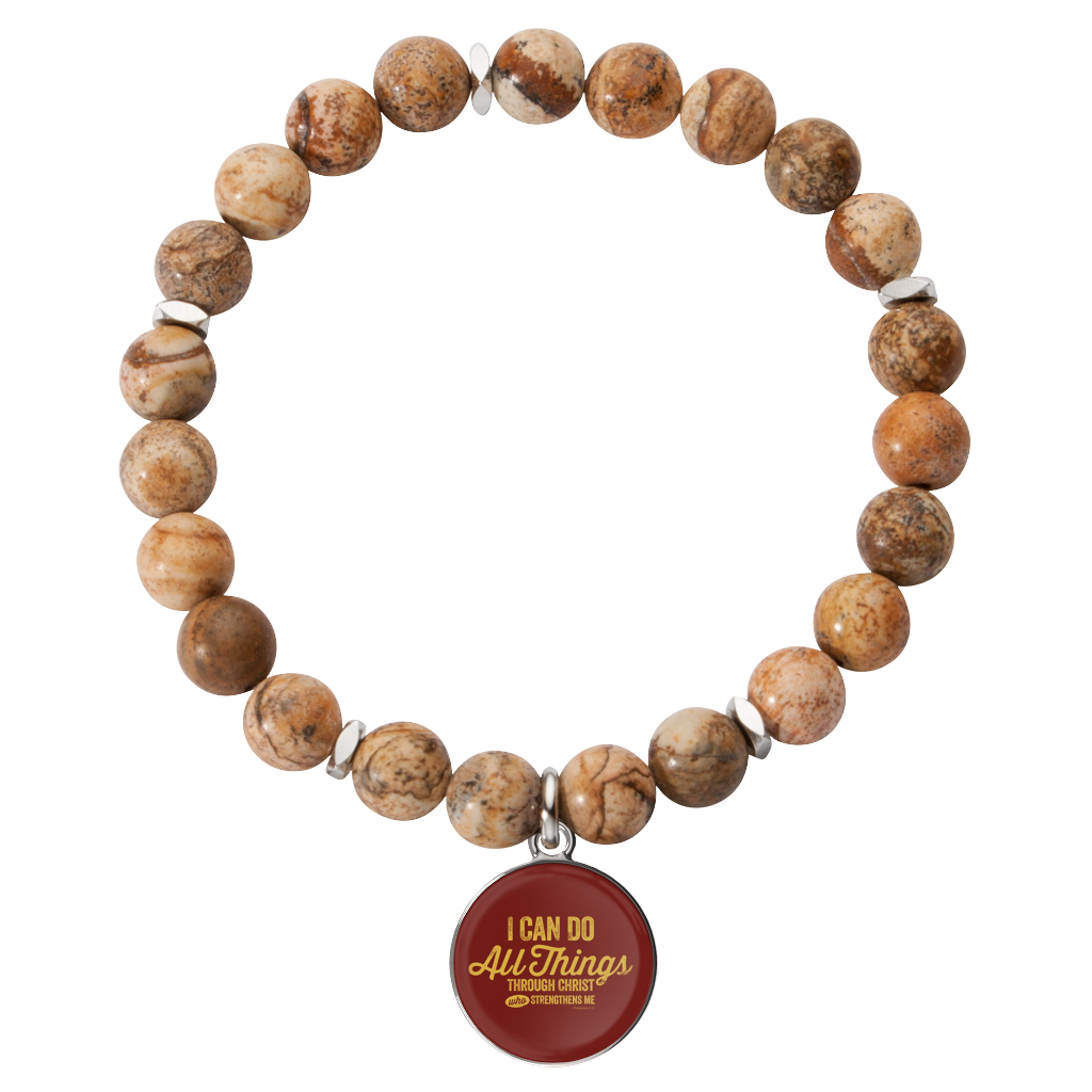 I Can Do All Things Through Christ Gemstone Bracelet