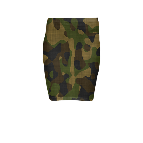 Camo Custom Printed Pencil Skirt