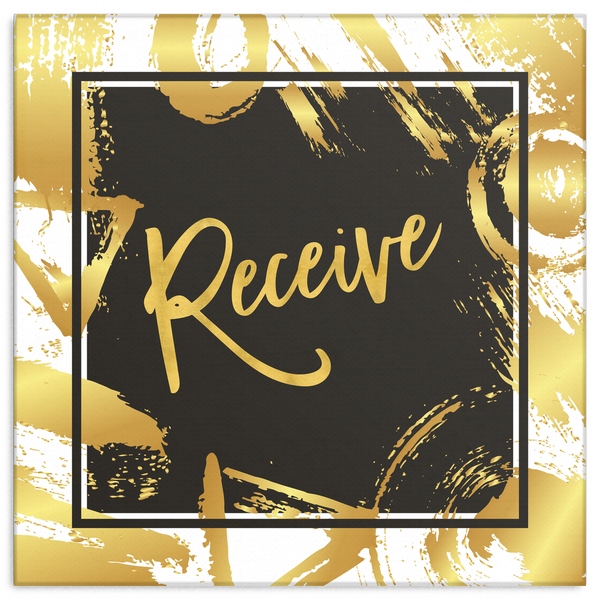 One Word: Receive Gallery Wrap Canvas Wall Art