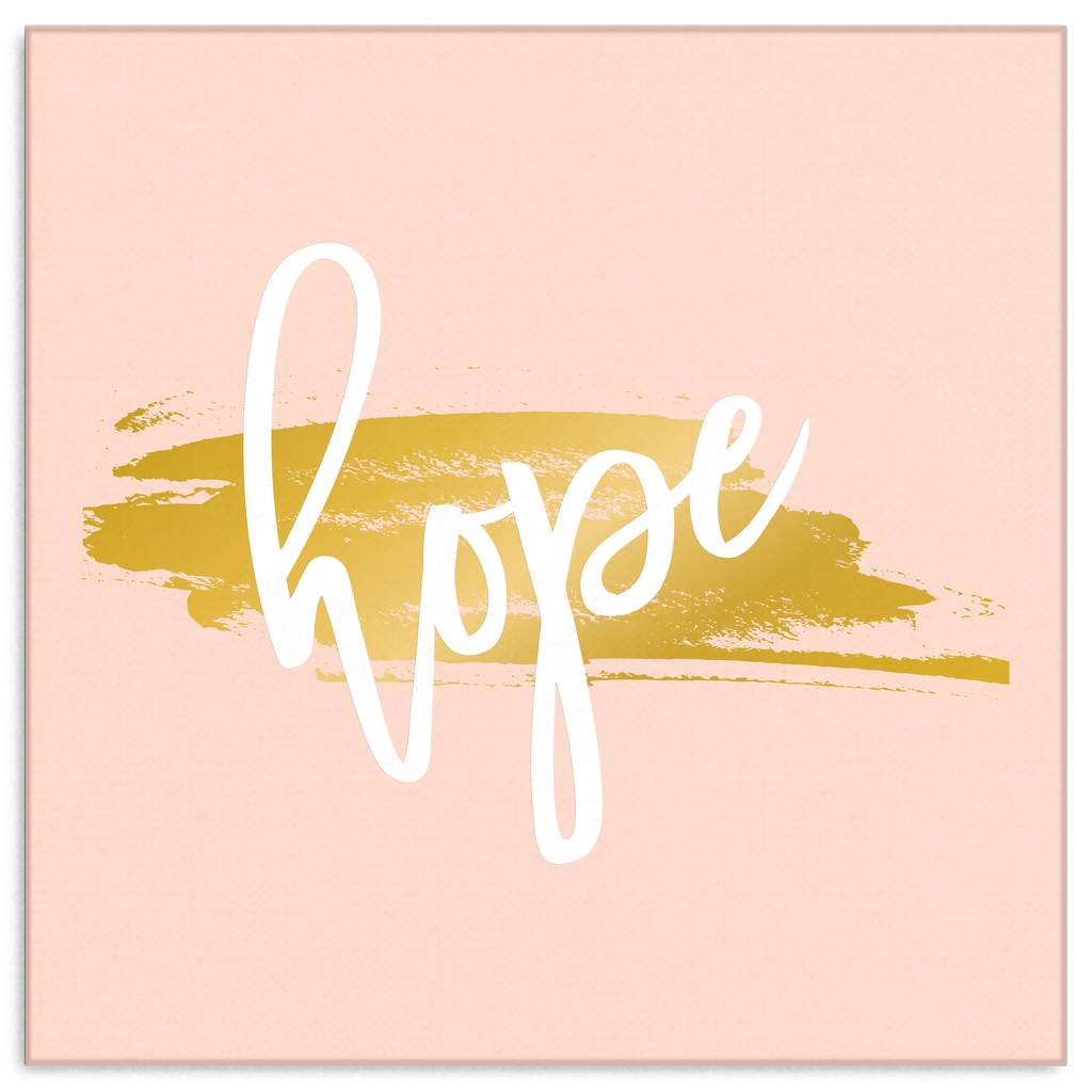 One Word: Hope Gallery Wrap Canvas Wall Art – Dressed Up Tee Shop