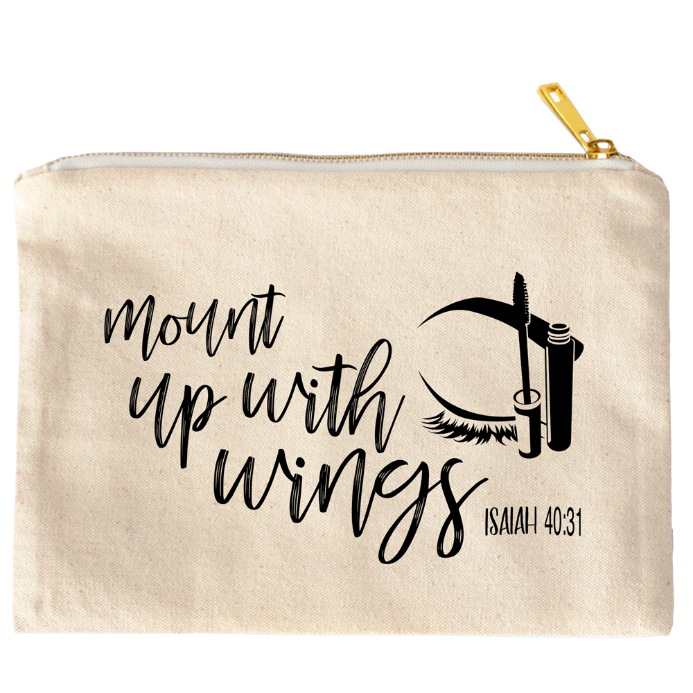 Mount Up With Wings Isaiah 40:31 Canvas Cosmetic Bag