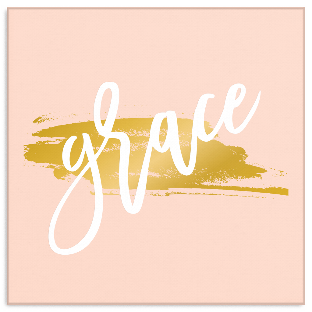 One Word: Grace Gallery Wrap Canvas Wall Art – Dressed Up Tee Shop