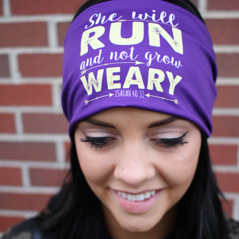 She Will Run And Not Grow Weary Headband