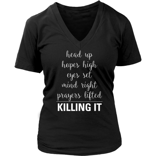 Killing It (Hopes High) V-Neck - Dressed Up Tee Shop  - 3