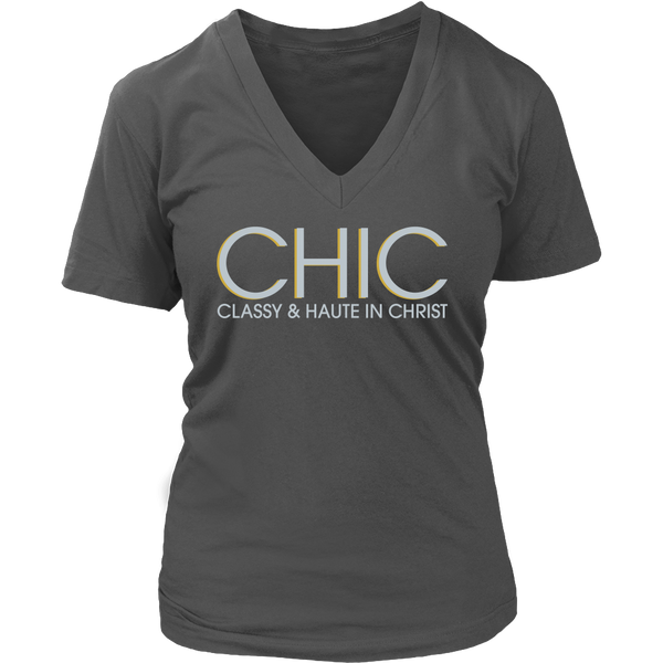 CHIC Classy & Haute in Christ Tee - Dressed Up Tee Shop  - 6