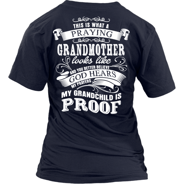 Praying Grandmother Tee (grandchild)