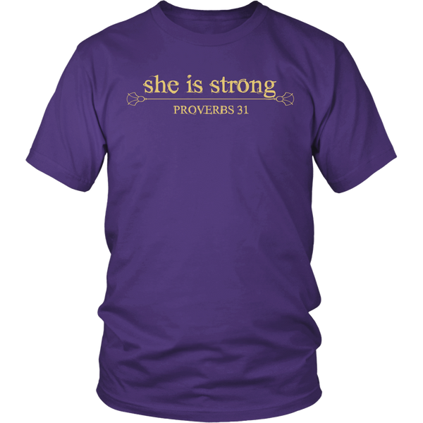 She is Strong Tee - Dressed Up Tee Shop  - 8