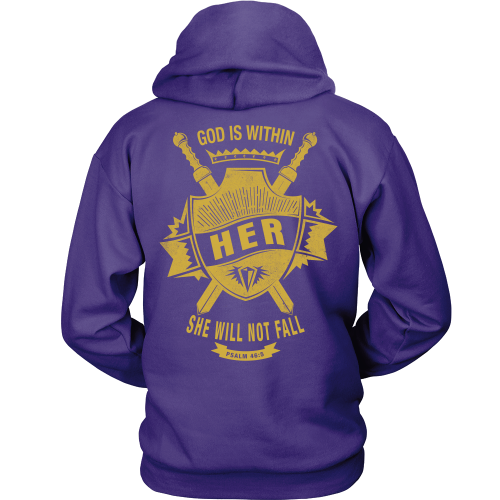 God is Within Her Hoodie - Dressed Up Tee Shop  - 4