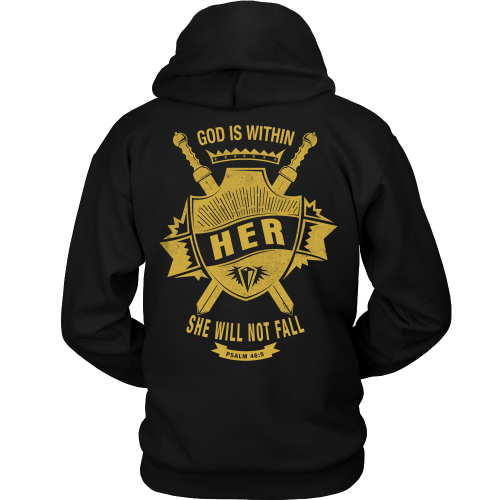 God is Within Her Hoodie - Dressed Up Tee Shop  - 1