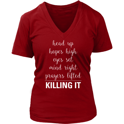 Killing It (Hopes High) V-Neck - Dressed Up Tee Shop  - 2