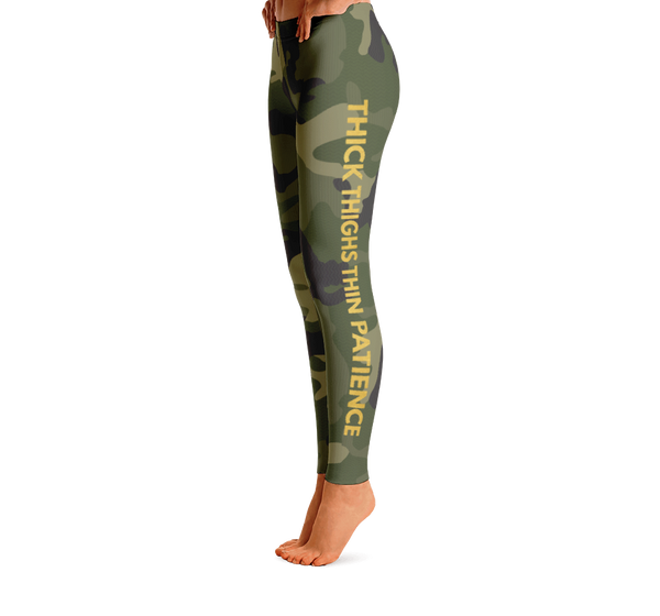 Thick Thighs Thin Patience Camo Leggings