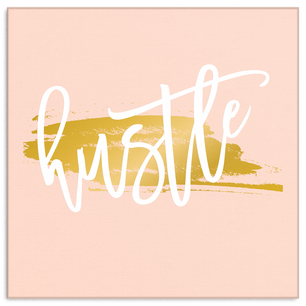 One Word: Hustle Gallery Wrap Canvas Wall Art – Dressed Up Tee Shop